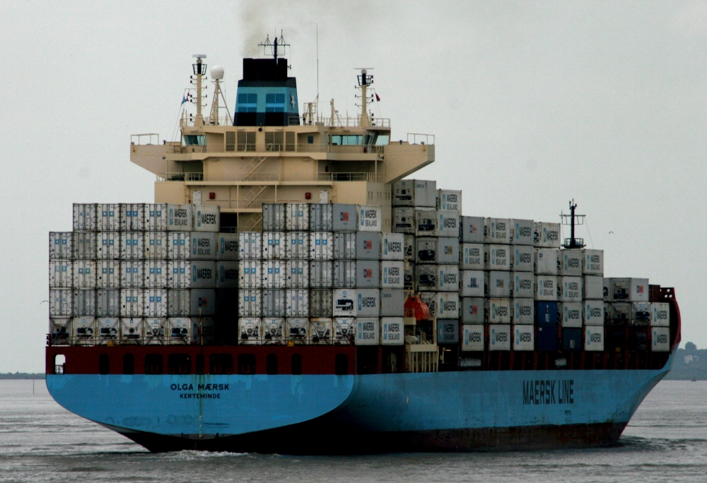Container ship to South Africa