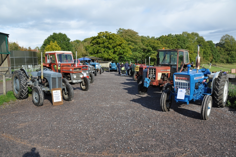 Members tractors lined up for exhibiting.