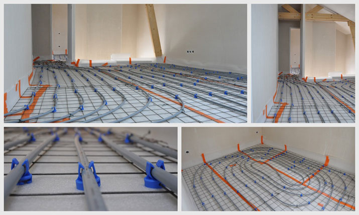 Home for House floor heating systems