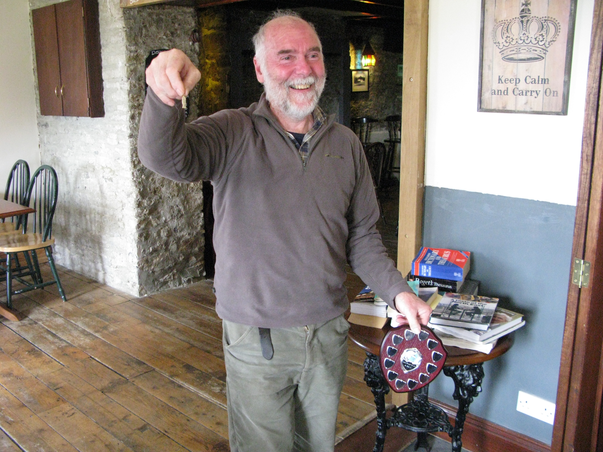Chris Pearce - winner of the Lead Trout Trophy