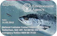 migratory fishing rod licence