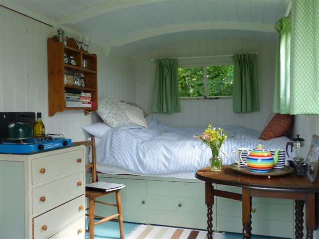 Shepherd's hut in Cornwall