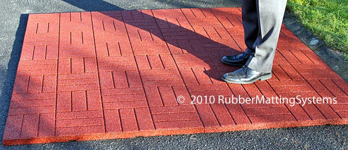 rubber paving tiles
