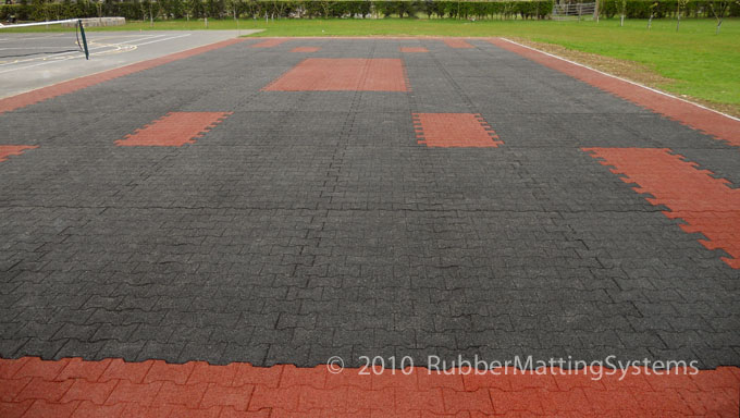rubber cobblelock mats