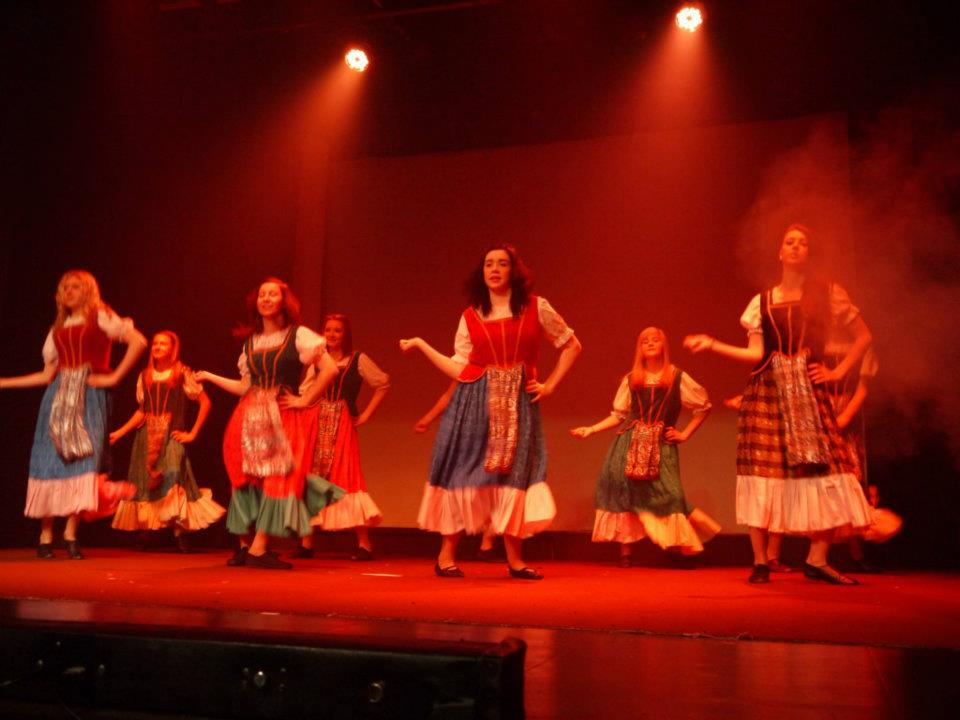 Senior dancers during a performance