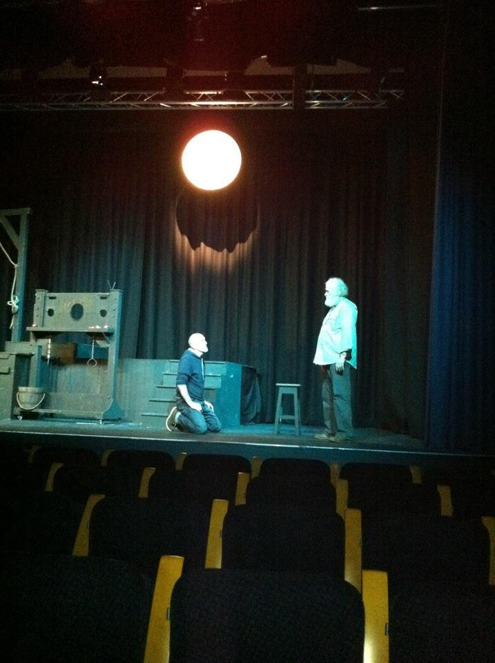 Vic Mills and Peter Musto rehearsing for Gentlemen and Players