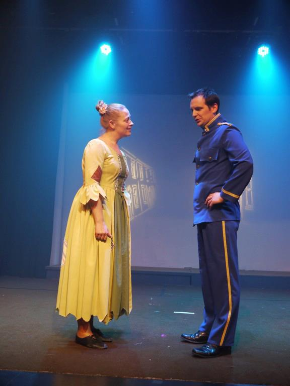 Shelley Bethan Morgan and Mark Thomas in Cinderella