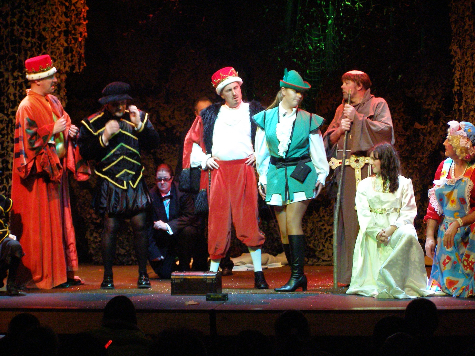 The cast during a performance of Robin Hood