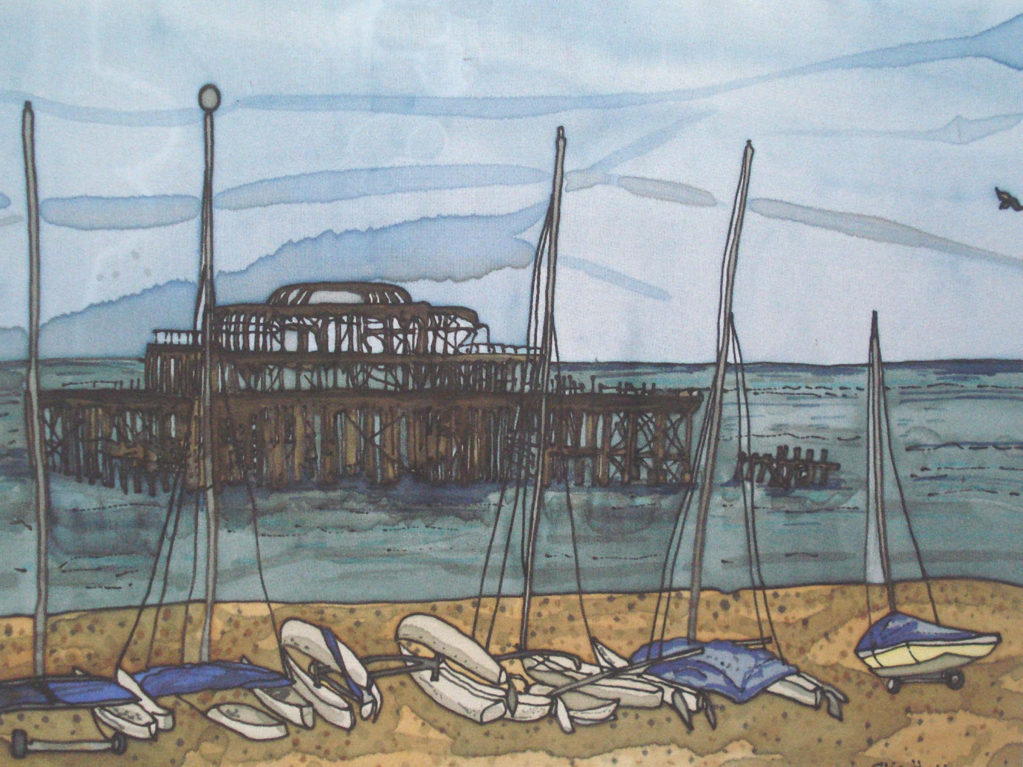 West Pier Giclee Print