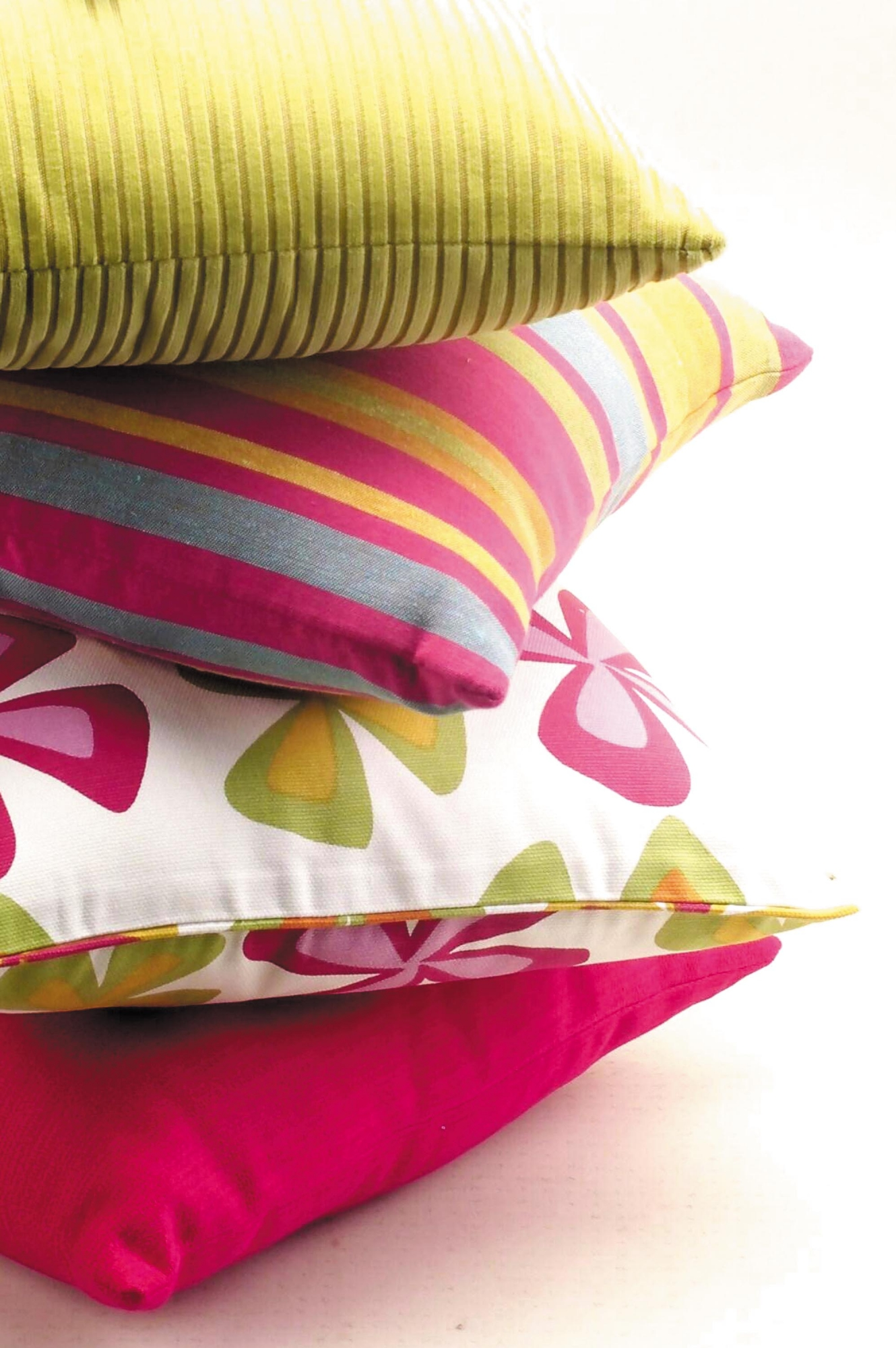 brightly coloured cushions