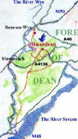 annes_cottage_ruardean_forest_of_dean_map
