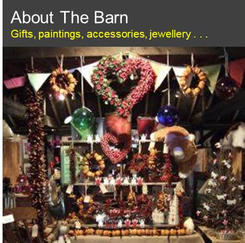 The Barn: Gifts, paintings, jewellery and more . . .