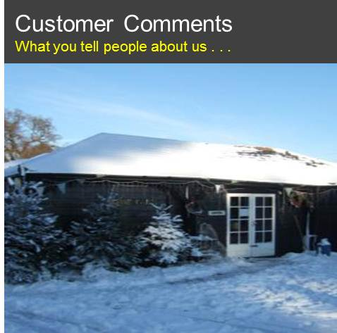 Customers: What you tell people about us . . .