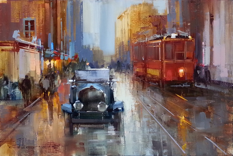 Alexey Shalaev 'Traffic on Old Tverskaya'