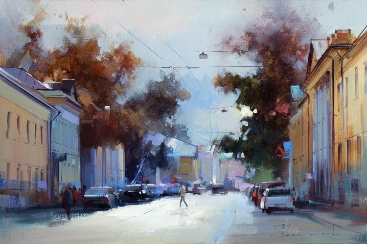 Alexey Shalaev 'September Sun at Solzhenitsyna Street'