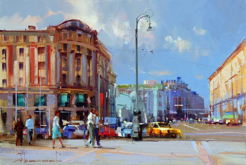 Alexey Shalaev 'Sun at Manezhnaya Square'