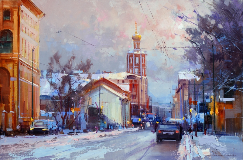 Alexey Shalaev 'Winter Sun at Petrovka' Street