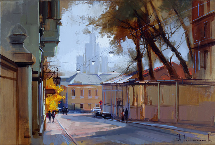Alexey Shalaev 'An Autumn Day at Kolpachny Lane'