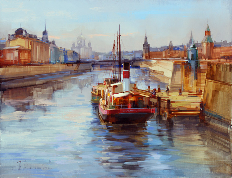 Alexey Shalaev 'Moscow River Old Harbour'