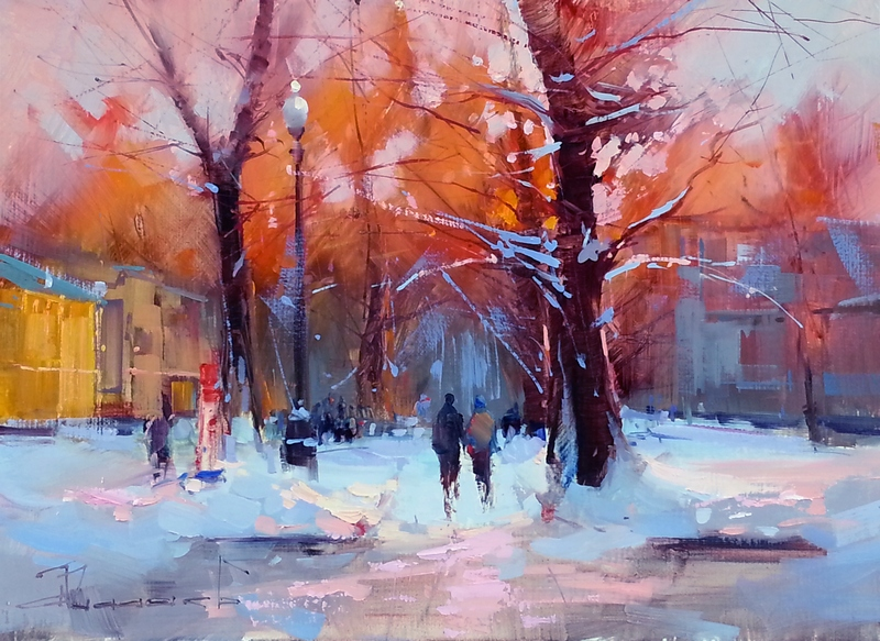 Alexey Shalaev 'Along Tverskoy Boulevard at Dawn'