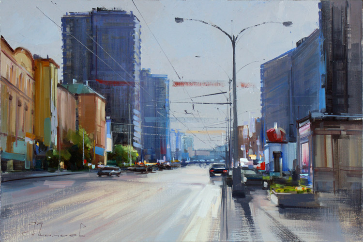 Alexey Shalaev 'Summer Afternoon on New Arbat'