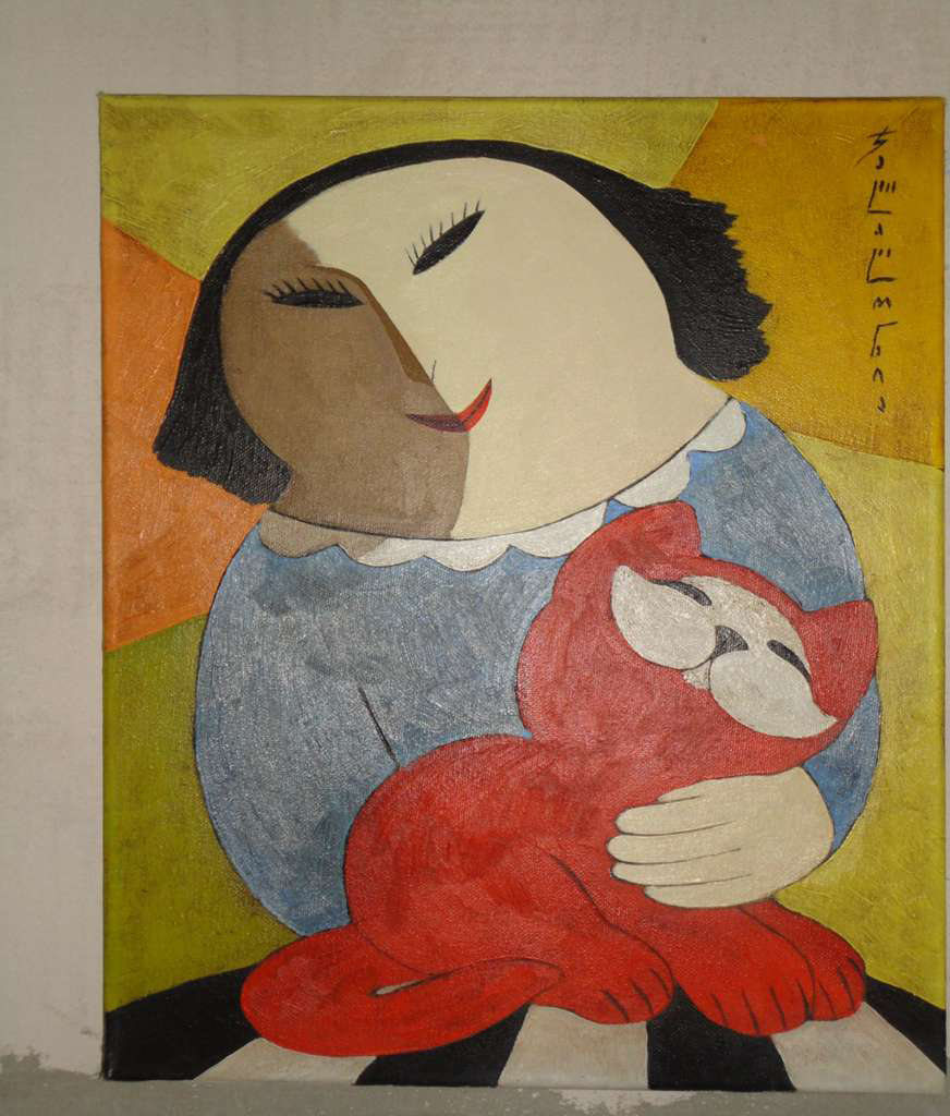 Merab Jalagonia 'A Lady with a Cat'