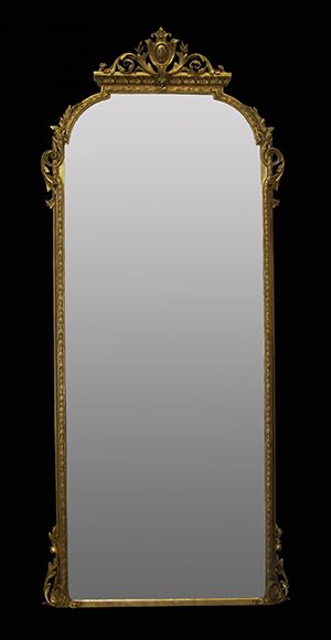 8 foot English mirror restored by Ruth Tappin