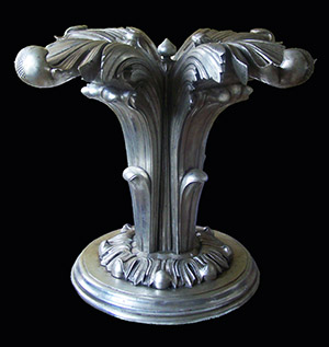 Silver table base