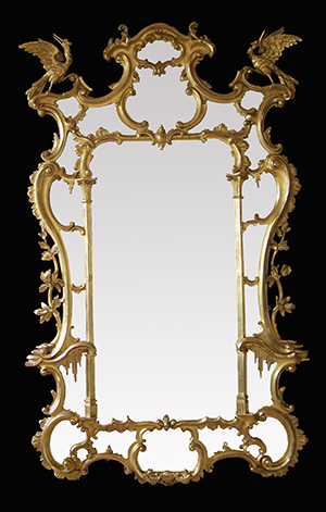 Antique mirror restored by Ruth Tappin