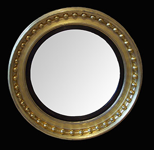 Antique convex mirror restored by Ruth Tappin