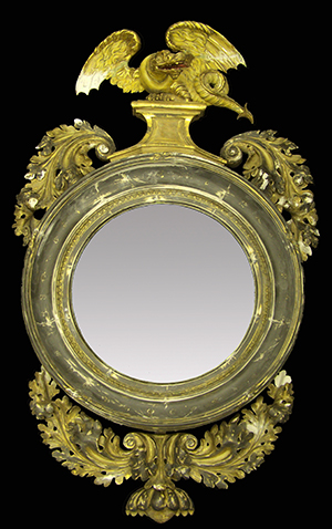 Antique dragon convex mirror