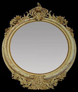 Antique French oval mirror