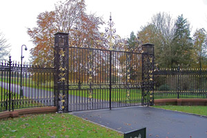 Gilded gates and fence