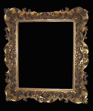 Italian carved wood picture frame.