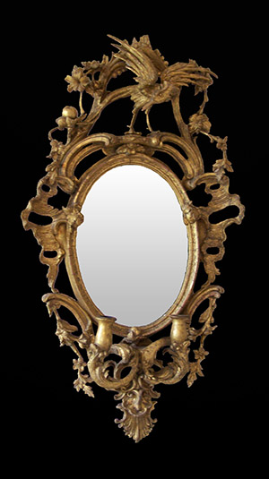 Antique Girandole mirror restored by Ruth Tappin