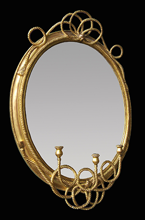 Rope oval mirror