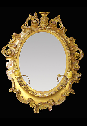 Antique girandole mirror