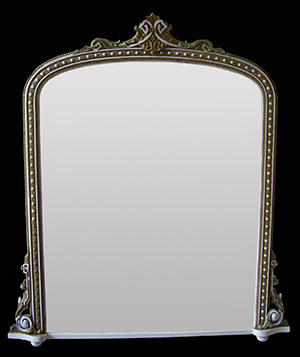 Antique over mantle mirror