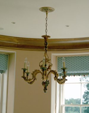 paint and gilt chandelier