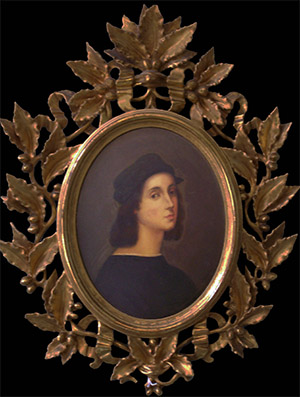 Anitque oval picture frame