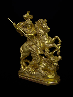 Gilded St George sculpture