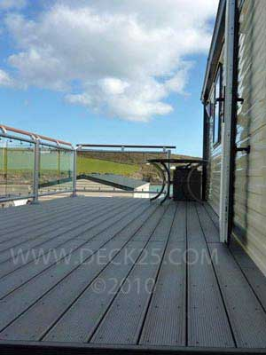 grooved decking plastic