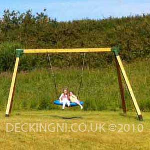 bird's nest swing wooden