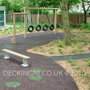 rubber mulch bonded