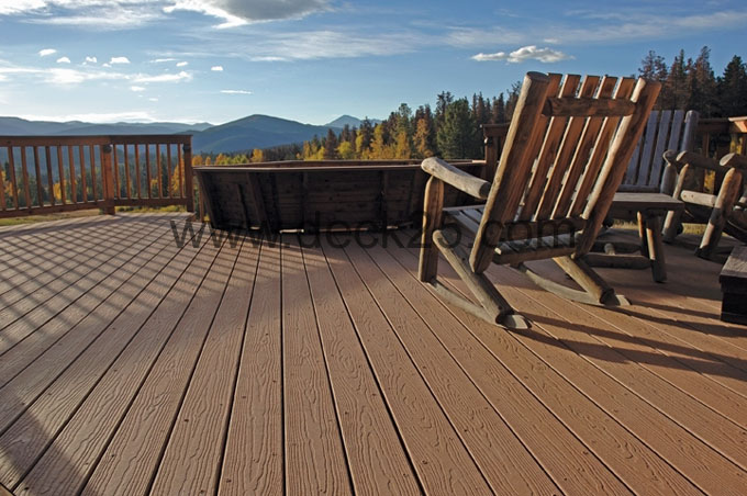composite decking woodgrain