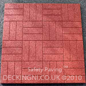 red safety paving tile
