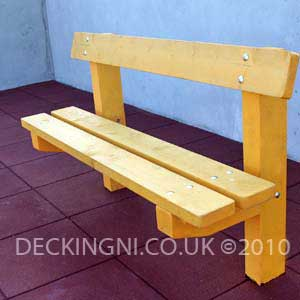 wooden supervision bench