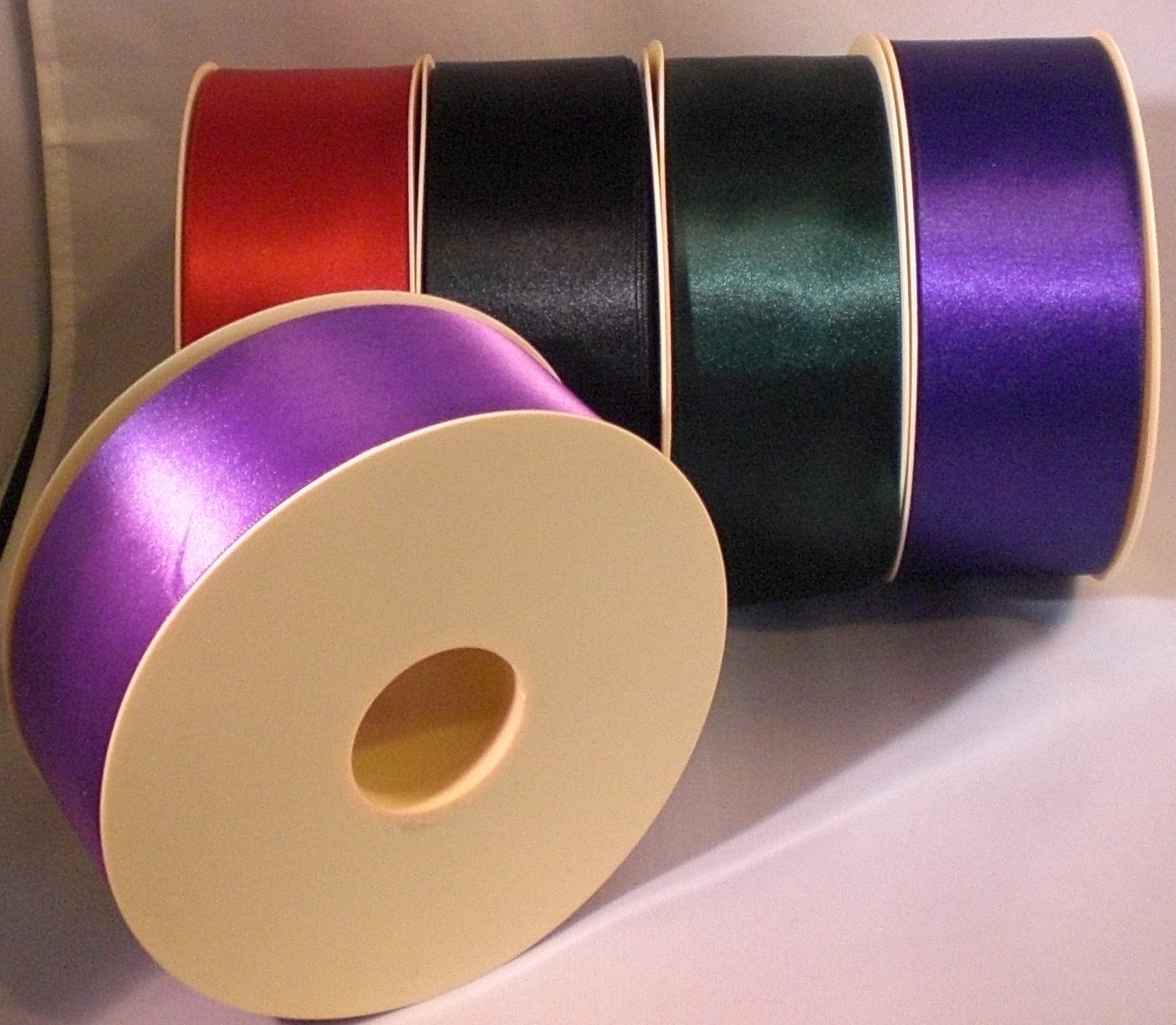Single Satin Ribbon 50mm - Forest Green x 2 metres