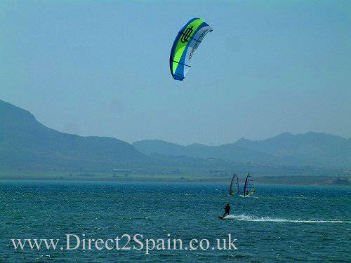 Kite Surfing on the La Manga Strip - beach properties for sale in Spain