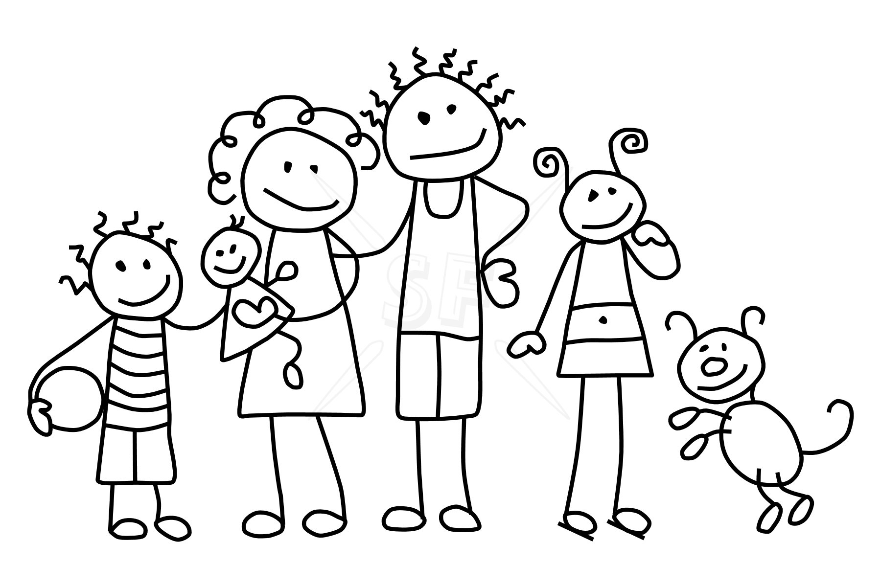 children coloring pages of families - photo#34